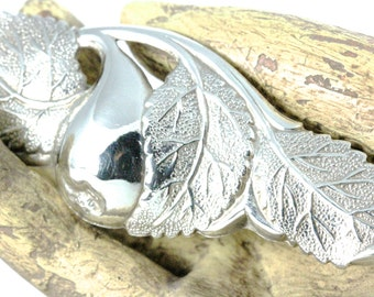 Sterling Silver Leaf Brooch Pin