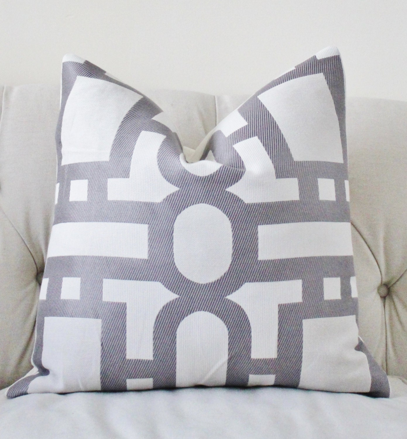 Reserved for Wanda Designer Light Purple Gray Pillow Cover