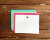 Letterpress Owl Flat Notecards // Set of 6
