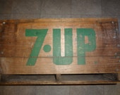 Vintage 7UP Wood Crate Blackwood Beverages LTD