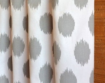 SUMMER SALE! Curtains, Window Treatments, Nursery Baby Room Decor, Curtain Panels,  Jo Jo Ikat Storm Grey White shown, MORE Colors
