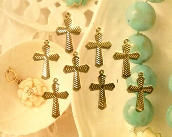 8 Goldplated Fancy Crosses
