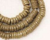 African Glass Disc Beads, Ethnic Beads, Tribal Beads(30) (C63)