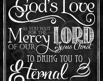 Scripture Art - Jude 1:21 Chalkboard Style
