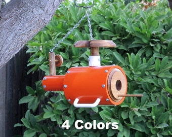 Helicopter Birdhouse - Available in Green, Blue, Yellow or Orange