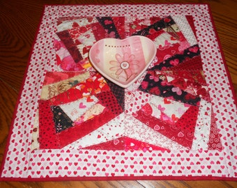 Valentine's Day Table Topper/ Valentine's Day Decor/ Home Decor/ Seasonal Decor/ Heart Table Topper/
