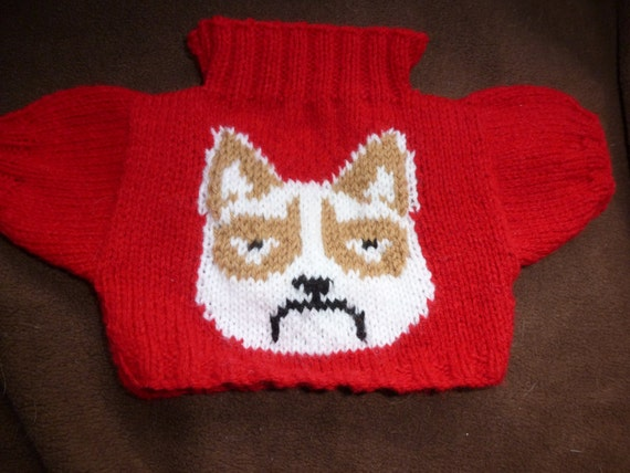 Knitting Patterns For Jumpers For Cats : Knitted Sweaters For Cats