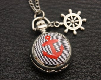 Necklace Pocket Navy anchor (2222m)