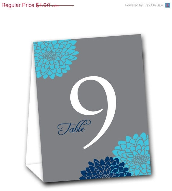 Mums Table Tent Numbers