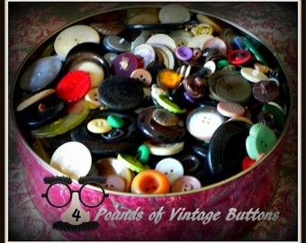 S-A-L-E  Large collection of Vintage Buttons for crafts, decorating, etc.