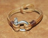 FREE SHIPPING, Brown Soft Leather Women Leather Bracelet with Clasp, Men Leather Bracelet