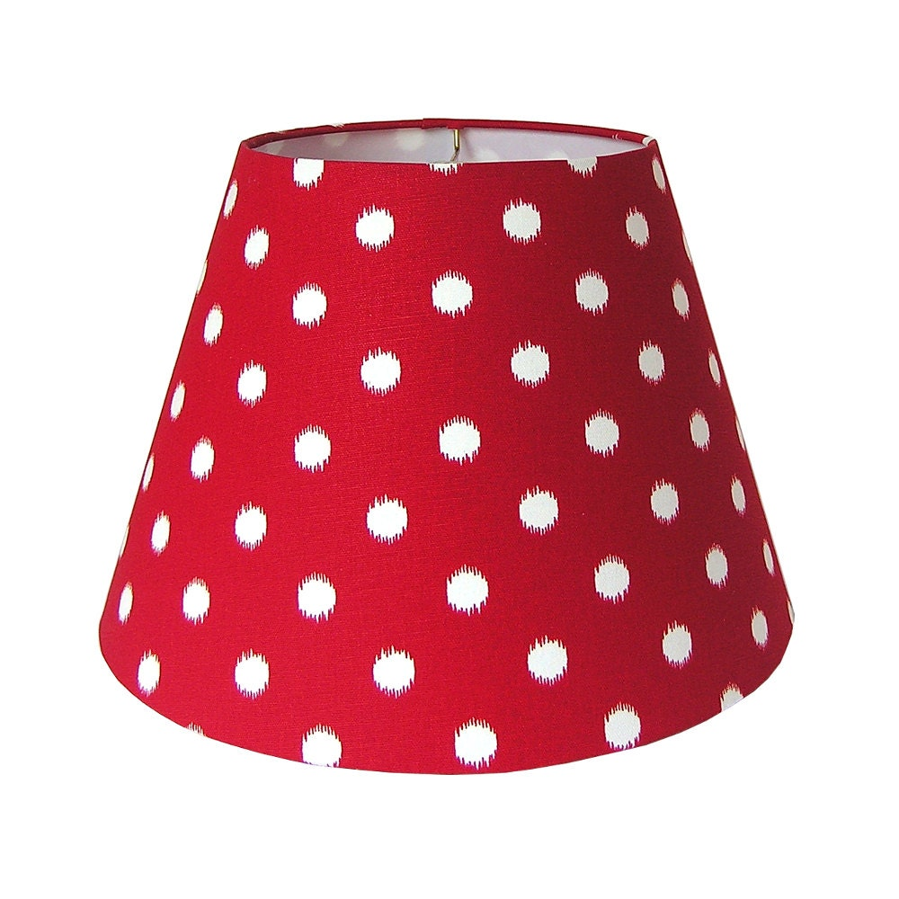 Lamp Shade Lampshade Ikat Dots By Premier Prints In Lipstick