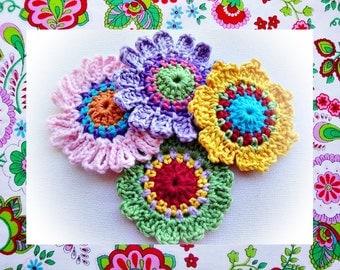 Set of Quick Flowers Crochet Patterns