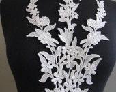 Ivory Venise Lace Applique, Lace, Appliques, Guipure Applique, Ivory Collar, Bridal Lace G34-488