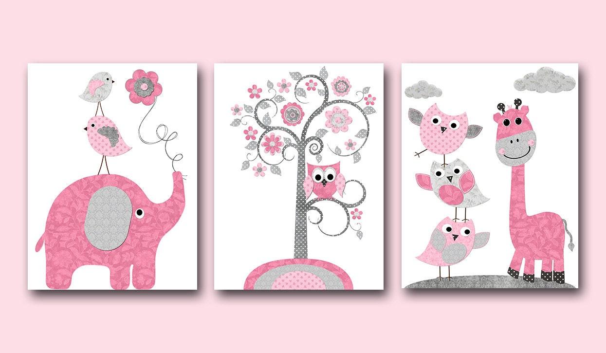 Wall Decor For Baby Girl : Baby girl nursery art decor kids wall kid room