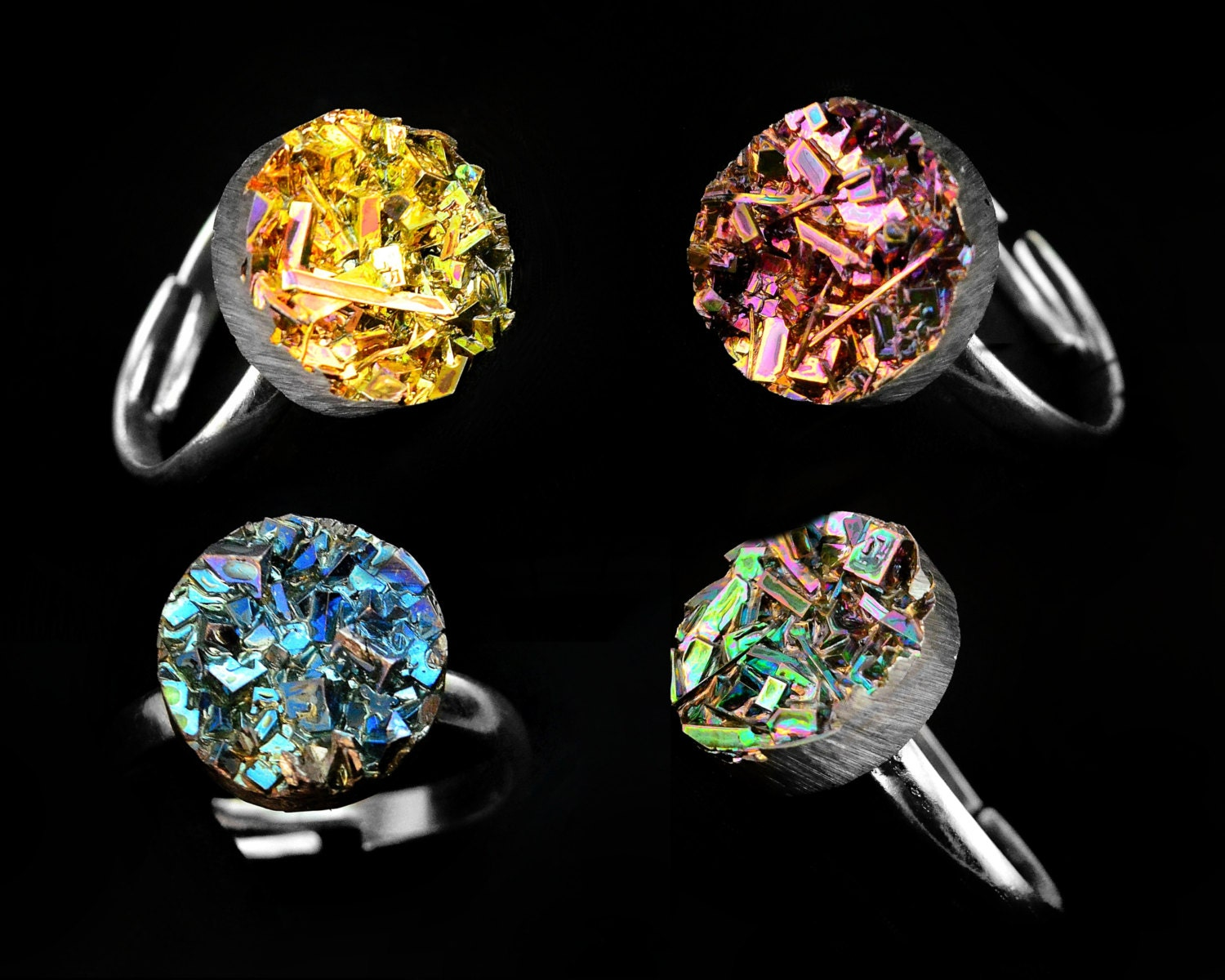 bismuth crystal ring custom order iridescent bismuth by element83. Black Bedroom Furniture Sets. Home Design Ideas