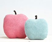 Apple shaped cushion/soft toy - small size color green