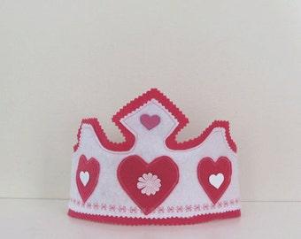 Felt Princess Crown, Eco Friendly, Waldorf Toy, Tiara