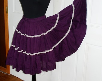 Gathered Circle Petticoat - Purple