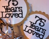 30th 40th 50th 75th Birthdays and Anniversary Centerpiece Displays with Personalized Text