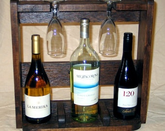 Rustic Countertop Wine Shelf