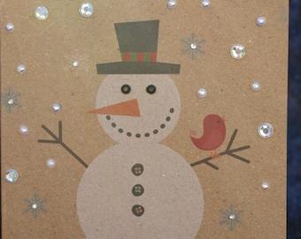 Handmade Christmas winter holiday card