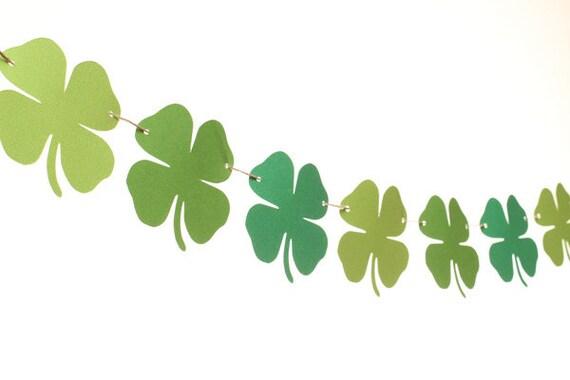 Saint Patrick's Day Garland / Shamrock Garland / Four Leaf Clover Garland / Saint Patrick's Day Banner /