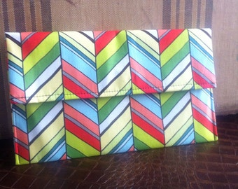 Colorful Chevron Clutch