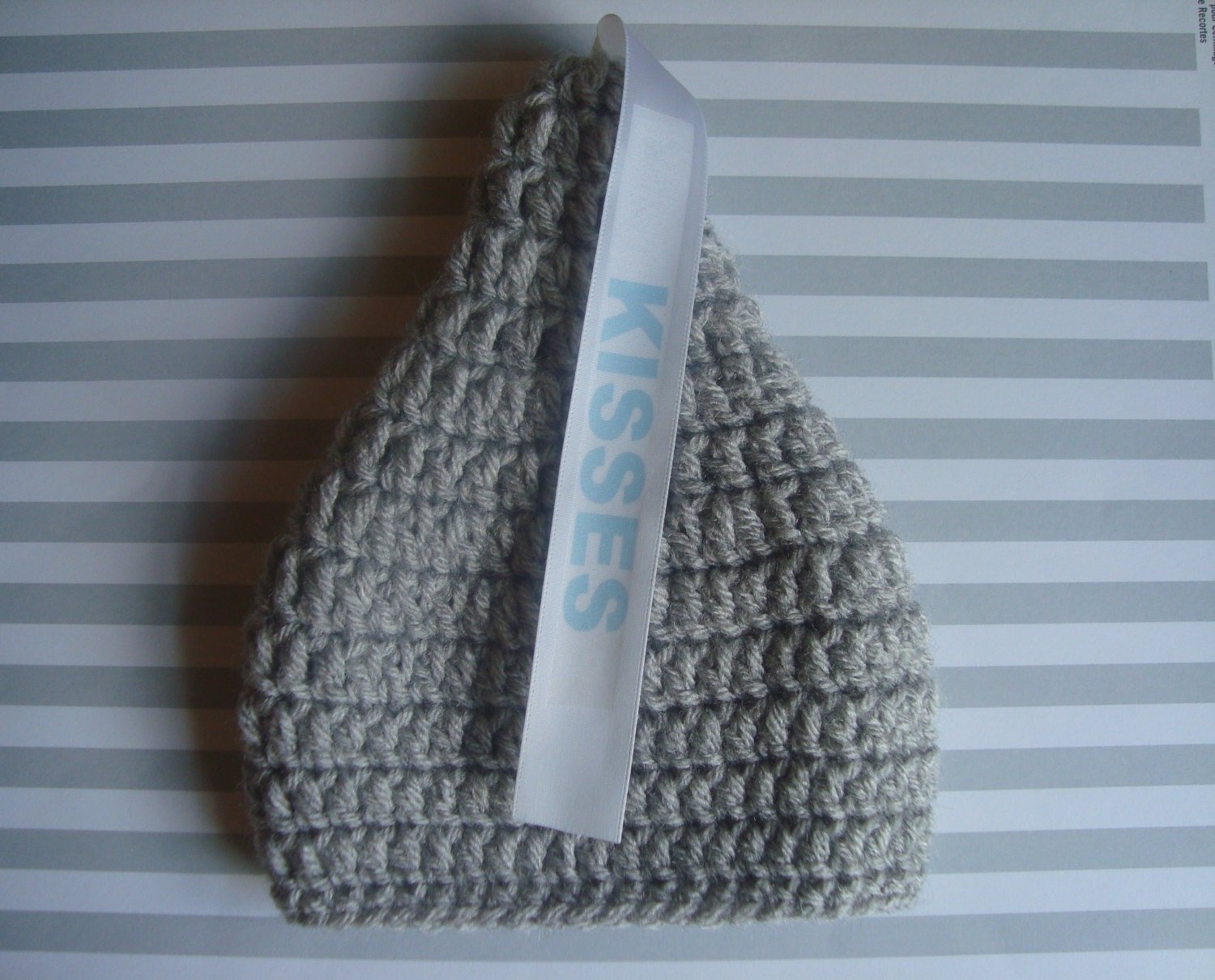 Crochet Baby Hershey Kiss Hat Pattern : Crochet Baby Boy or Baby Girl Hersheys KIsses Hat