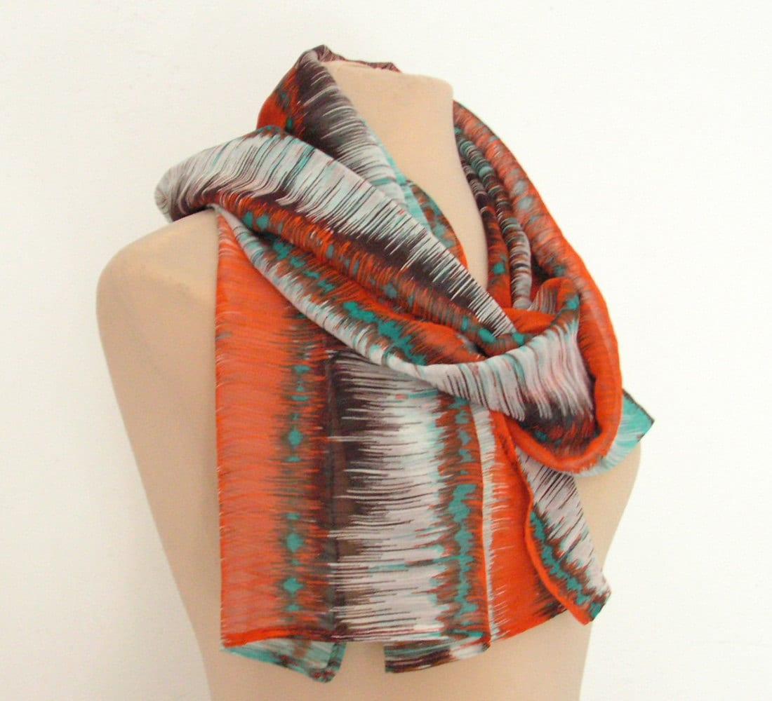 modern boho infinity scarf bohemian scarf multicolored scarf