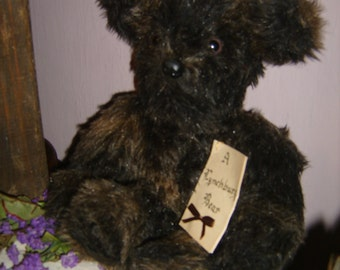 Hand Made Jointed Plush Teddy Bear - Lynchburg Bear With a Story
