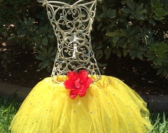 Beauty and the beast party favors, Belle Party Favors, Yellow Sparkle Tutu, Yellow Tutu Skirt/ Yellow Ballet Tutu/ Child Toddler Infant Tutu
