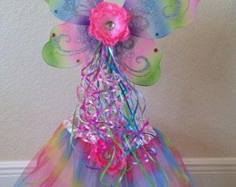 Fairy Costume, Rainbow Tutu Dress, Rainbow Wings, Rainbow Tutu, Birthday Tutu, Fairy Tutu, Fairy Wings, Fairy Costume, Rainbow Fairy Costume