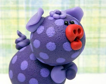 Kendall Polymer Clay Piglet Figurine