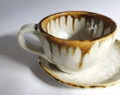 A beautiful brown coffee cup