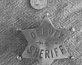Deputy Sheriff 6 Point Star Badge with pin back