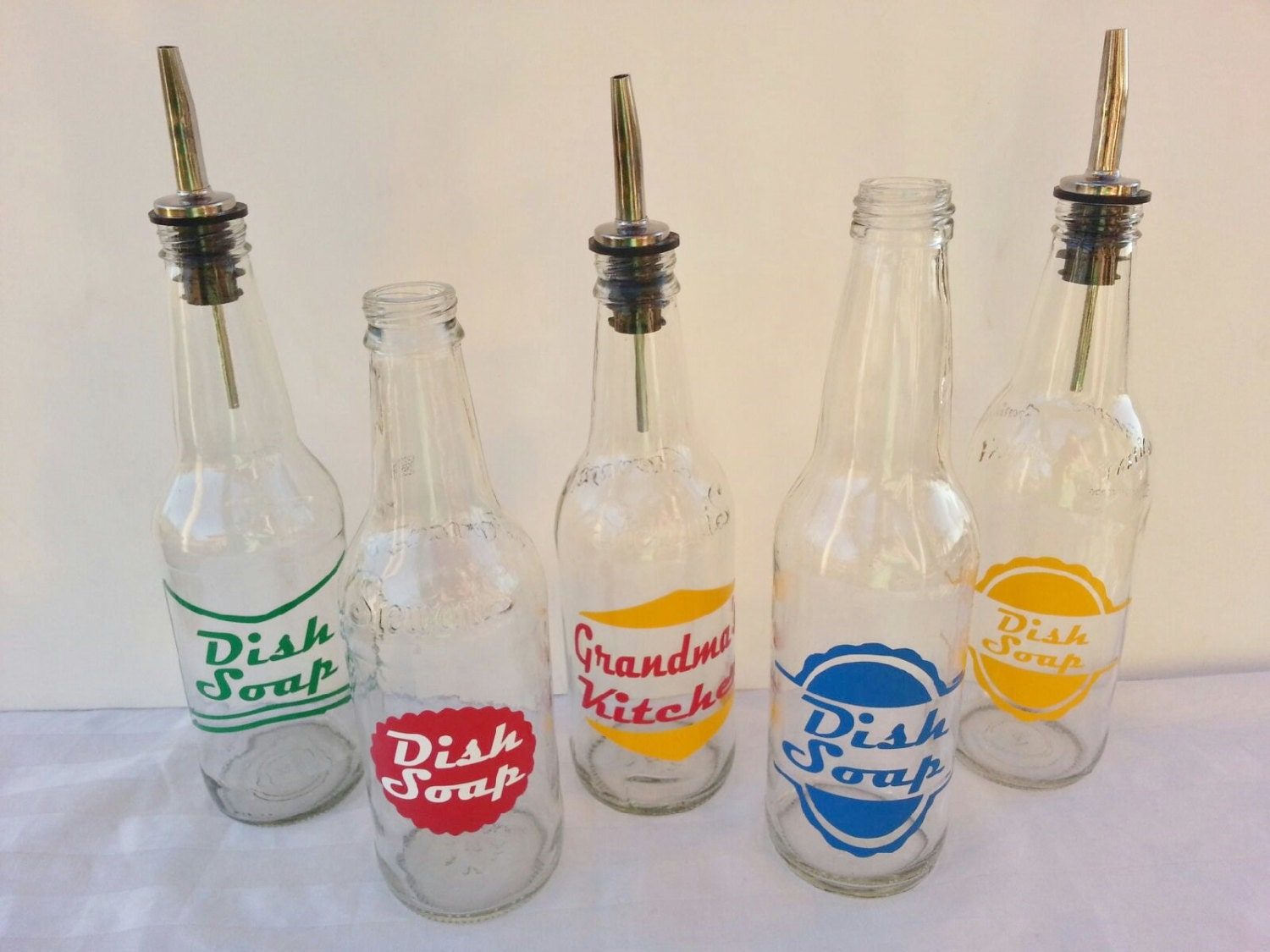 Retro Soda Bottle Dish Soap Dispensers By Bittersweetlemonade