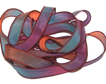 Sassy Silks Hand Painted/Dyed Ribbons Wiggles