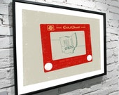 "Made In Ohio, Etch A Sketch 11""x14"" Poster"
