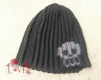 Crochet Skull Graph Beanie Hat For Boys