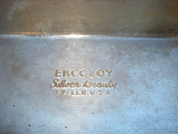 Vintage Ekcoloy Silver Beauty Usa Loaf Pan By