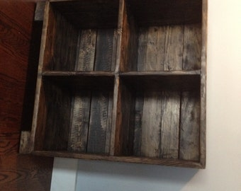reclaimed media (lp records) cabinet