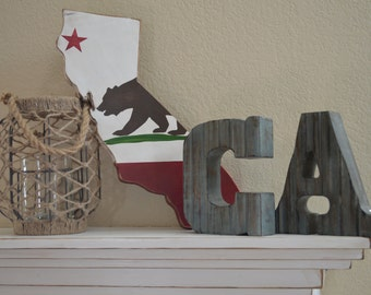 State of California Flag- Rustic/Stressed