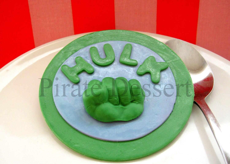 The INCREDIBLE HULK Edible Cake Topper Avengers Edible