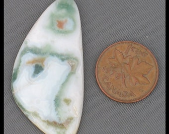 Ocean jasper  cabochon44mm x 22mm x 6.2mm at 7.8 grams