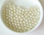 Vintage Faux Pearls 4mm  100pcs
