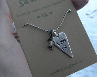 Valentine Necklace; Kiss me Necklace
