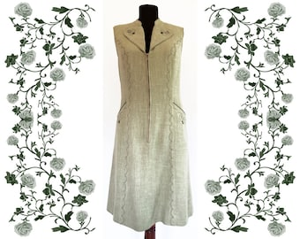"1970's Vintage Deadstock NOS  ""Esbi""  Embroidered Dress"