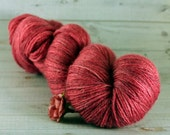 Rose Hand Dyed Yarn, bamboo wool sock yarn, pink yarn