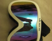 Bolle Irex 100 Ski Snowboarding Goggles White with Purple Blue & Green Mirrored Lenses Red tinted lenses vintage 1980's